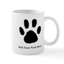 Paw Print Template Mugs