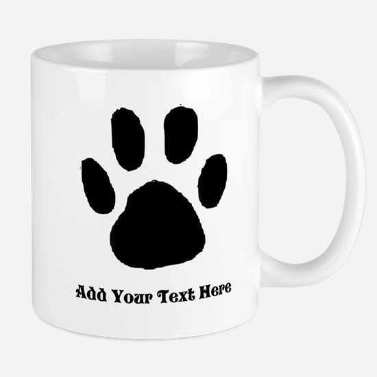 Paw Print Template Mugs