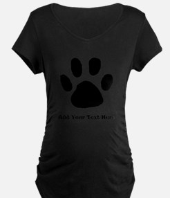 Paw Print Template Maternity T-Shirt