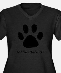 Paw Print Template Plus Size T-Shirt