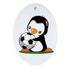 I Love Soccer (5) Ornament (Oval)