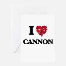 I Love Cannon Greeting Cards