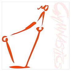 Bars - Orange Poster