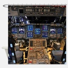 Space Shuttle Endeavour Cockpit Shower Curtain