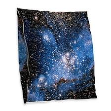 NGC 346 Infant Stars Burlap Throw Pillow