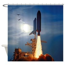 Space Shuttle Discovery Launch Shower Curtain