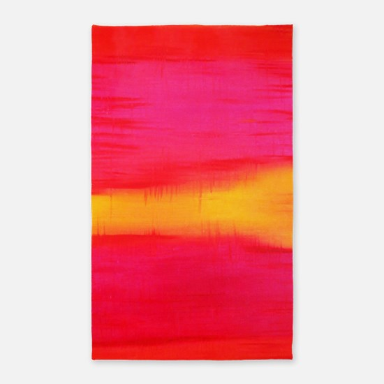 ROTHKO PINK RED YELLOW Area Rug