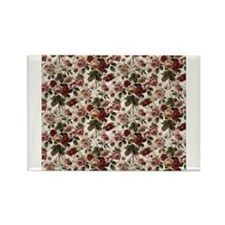 Cute Red flower Rectangle Magnet