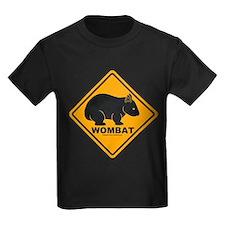 Wombat Sign Kids Tee-Shirt Dark