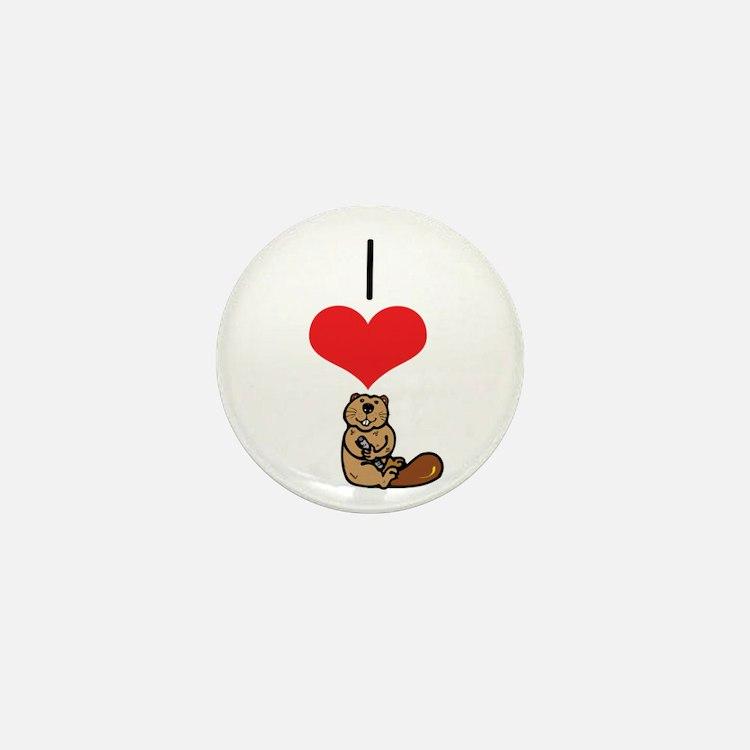 Beaver Mini Button