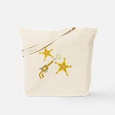 Gun & Badge Tote Bag