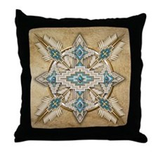 Native American Style Mandala 29 Throw Pillow