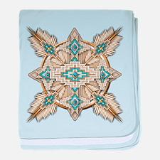 Native American Style Mandala 29 baby blanket