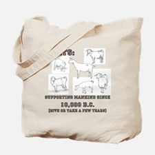 Goats- Supporting mankind since 10,000 BC Tote Bag