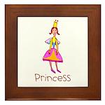 Kid Art Princess Framed Tile