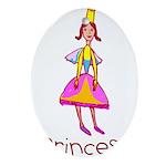 Kid Art Princess Oval Ornament