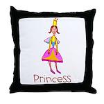 Kid Art Princess Throw Pillow