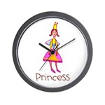 Kid Art Princess Wall Clock