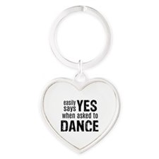 Says Yes when Asked to Dance Heart Keychain