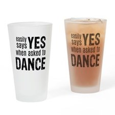 Says Yes when Asked to Dance Drinking Glass