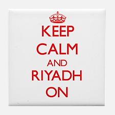 Keep Calm and Riyadh ON Tile Coaster
