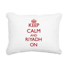 Keep Calm and Riyadh ON Rectangular Canvas Pillow