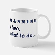 A One, A Two, Frankie! blue Mugs
