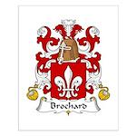 Brochard Family Crest Small Poster