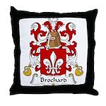 Brochard Family Crest Throw Pillow