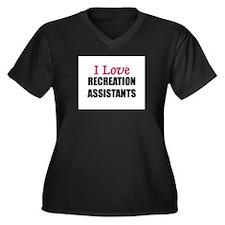 I Love RECREATION ASSISTANTS Women's Plus Size V-N