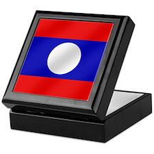 Flag of Laos Keepsake Box