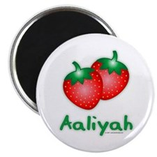 """""""Aaliyah"""" Strawberry 2.25"""" Magnet (100 pack)"""