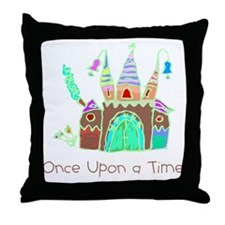 Kid Art Castle Throw Pillow
