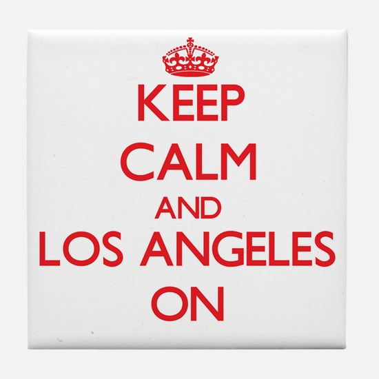 Keep Calm and Los Angeles ON Tile Coaster