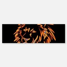 Lion in red and yellow Bumper Bumper Bumper Sticker