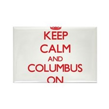 Keep Calm and Columbus ON Magnets