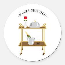 Room Service Round Car Magnet