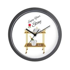 Enjoy Your Stay Wall Clock