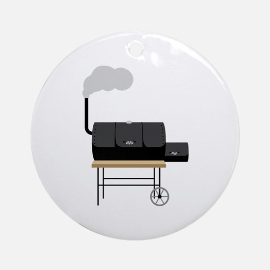 Barbeque Smoker Ornament (Round)