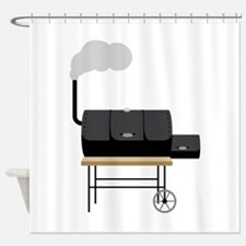 Barbeque Smoker Shower Curtain