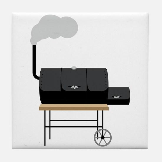 Barbeque Smoker Tile Coaster
