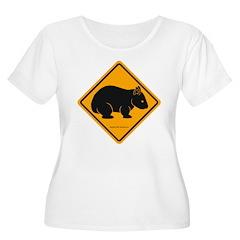 Wombat Sign II Women's Plus Size Scoop Neck Tshirt