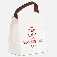 Keep Calm and Washington ON Canvas Lunch Bag
