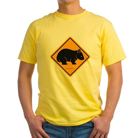 Wombat Sign II Yellow T-Shirt