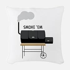 Smoke Em Woven Throw Pillow