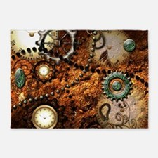 Steampunk 5'x7'Area Rug
