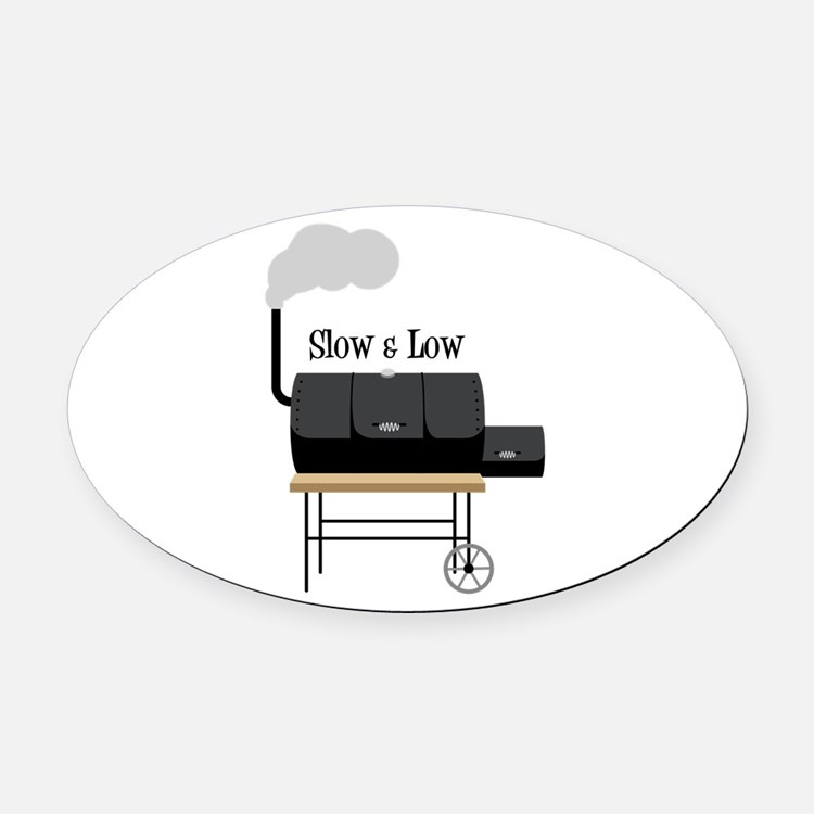 Slow & Low Oval Car Magnet