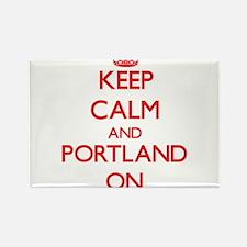 Keep Calm and Portland ON Magnets