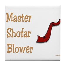 Rosh Hashanah Shofar Tile Coaster