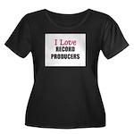 I Love RECORD PRODUCERS Women's Plus Size Scoop Ne